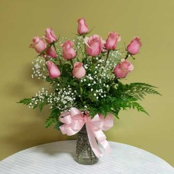 PF-258: Dozen Pink Roses