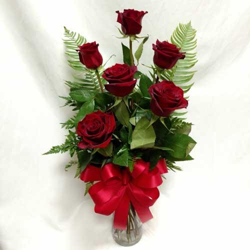 PF-262: Half Dozen Red Roses ($50.00)