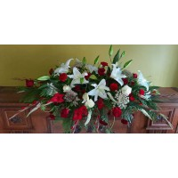 PF-602: Bed of Roses Casket Spray ($350.00)